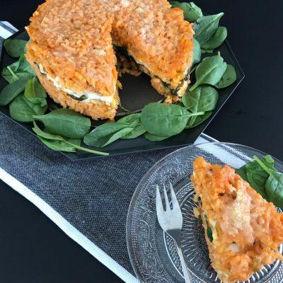 Risotto taart met mozzarella