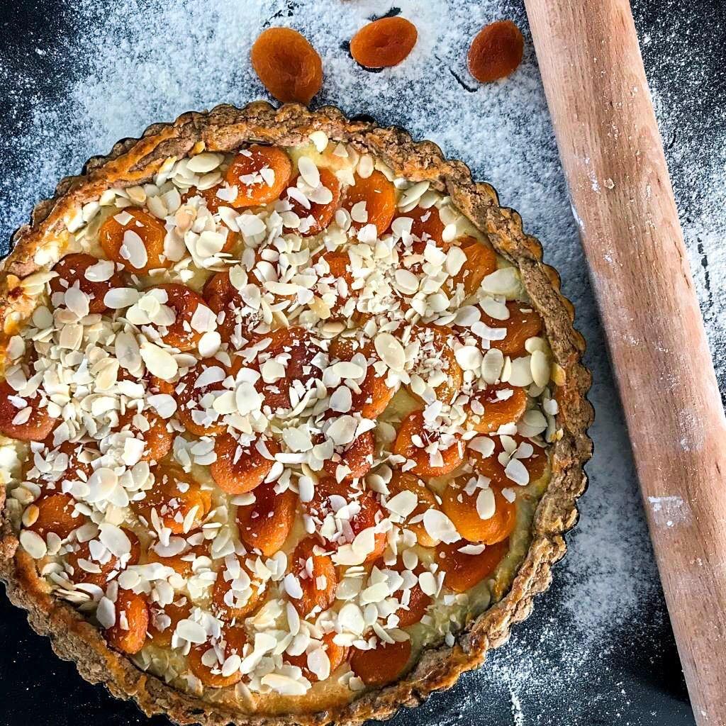 Abrikozen speculaas taart