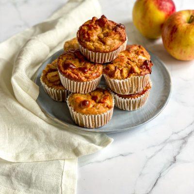 Bananenbrood muffins met appel
