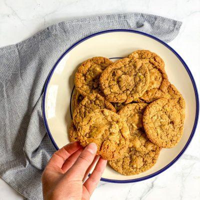 Witte chocolade koekjes met pistache