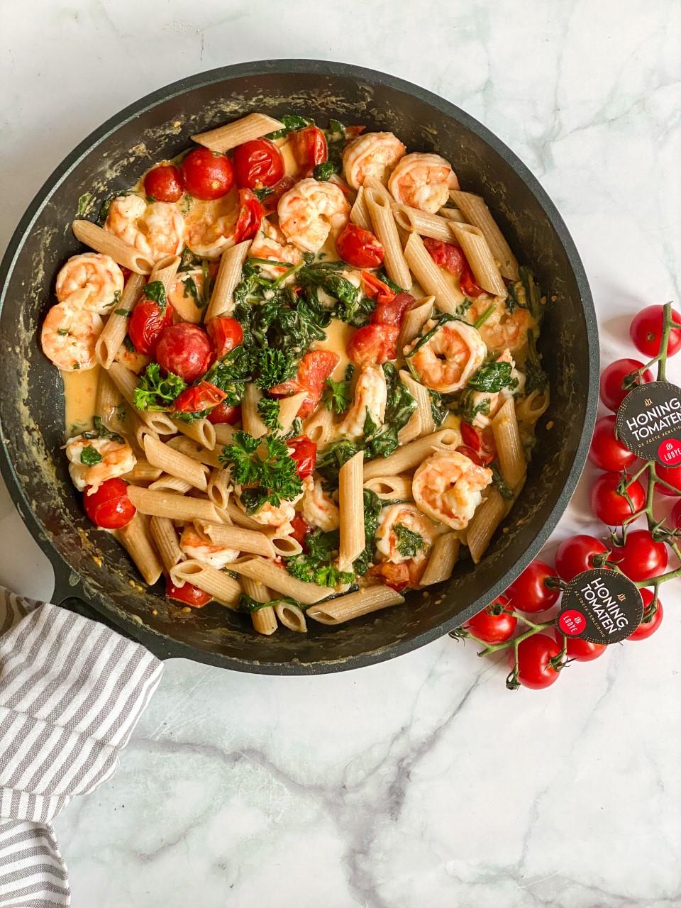 Tuscan Shrimps met Looye HoningtomaatjesⓇ