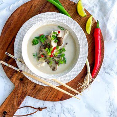 Tom Kha Khai soep