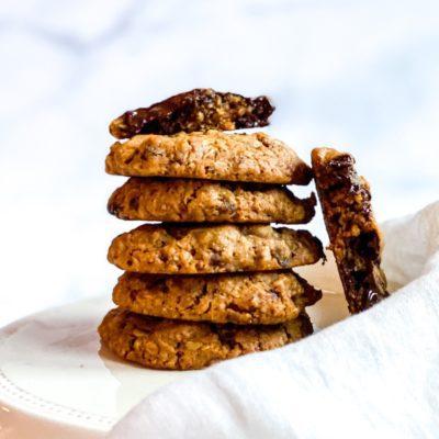 Havermout koekjes met chocolade en rozijnen
