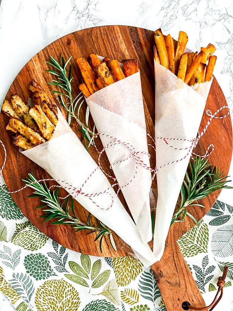 Drie keer groenten frietjes