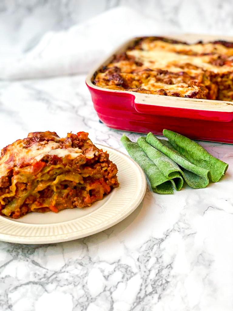 Groene lasagne al ragu