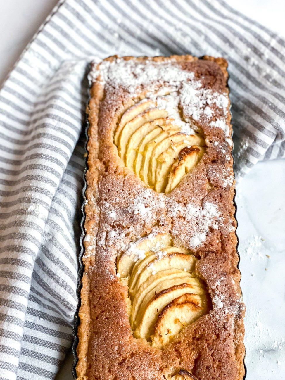 Frangipane taart met appel