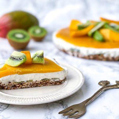 Mango kiwi ontbijttaart