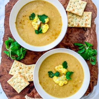 Bloemkool kerrie soep