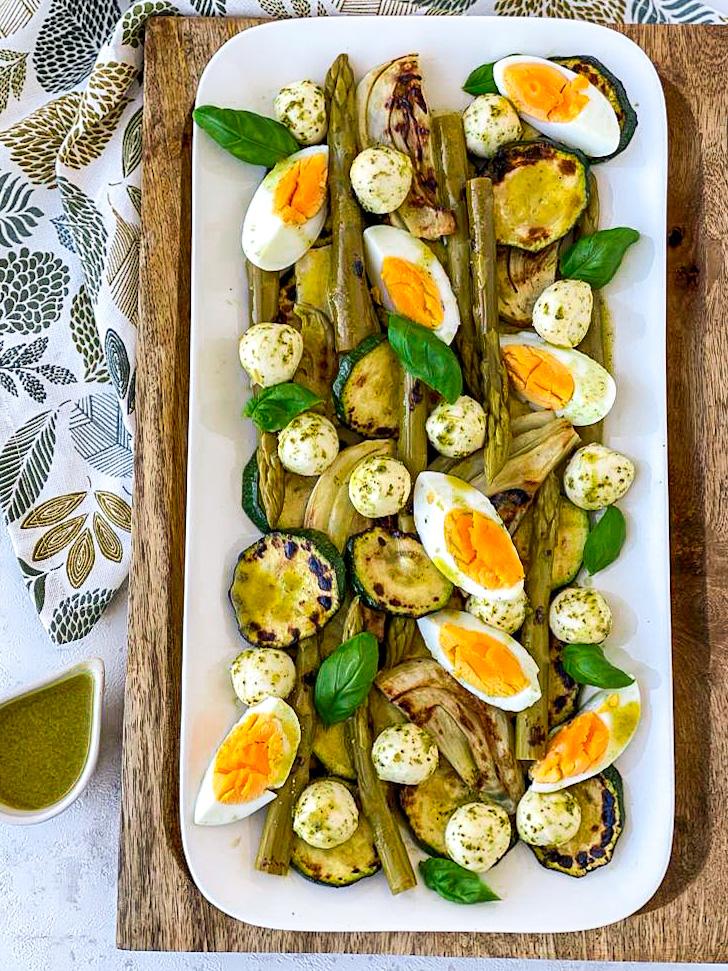 Gegrilde groenten met mozzarella