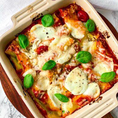 Aubergine lasagne rolletjes