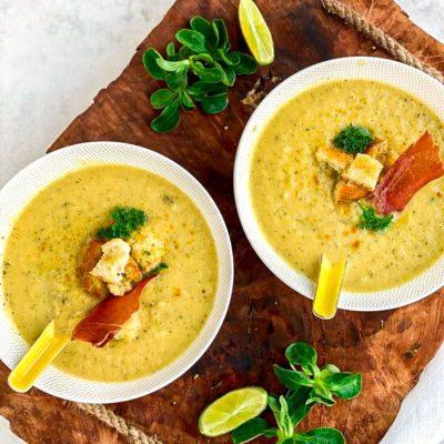 Courgette asperge soep