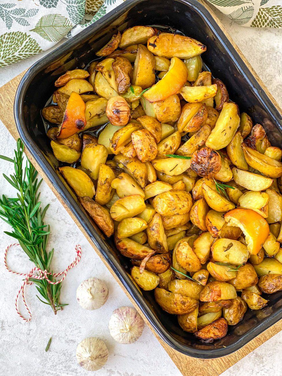 Toscaanse rozemarijn aardappeltjes