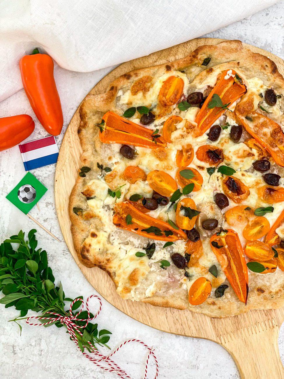Oranje Pizza Bianca