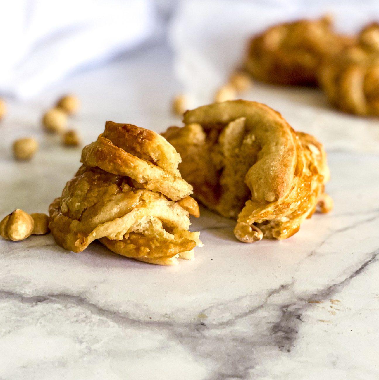 Karamel en hazelnoot broodjes