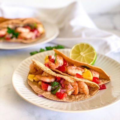 Zachte taco's met garnalen