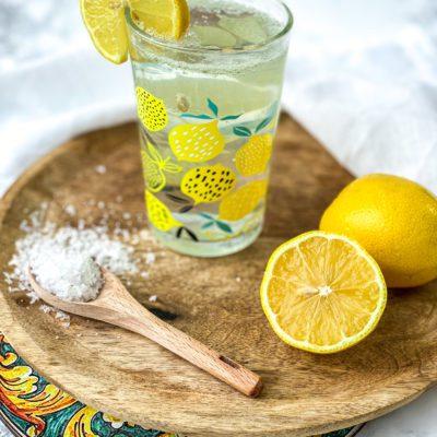 Citroen limonade met zout
