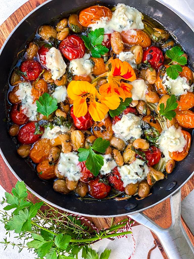 Geroosterde groenten met fagioli bonen