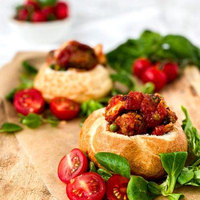 Broodje Italiaanse gehaktballetjes